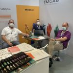 Networking at Emcab booth ECOC 2021